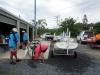 Washing down the boats